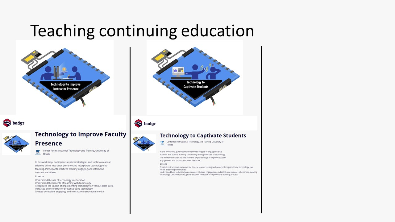 Marsiske continuing education badges, image 3