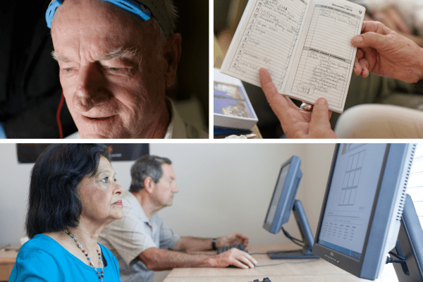 Older adults receiving cognitive training